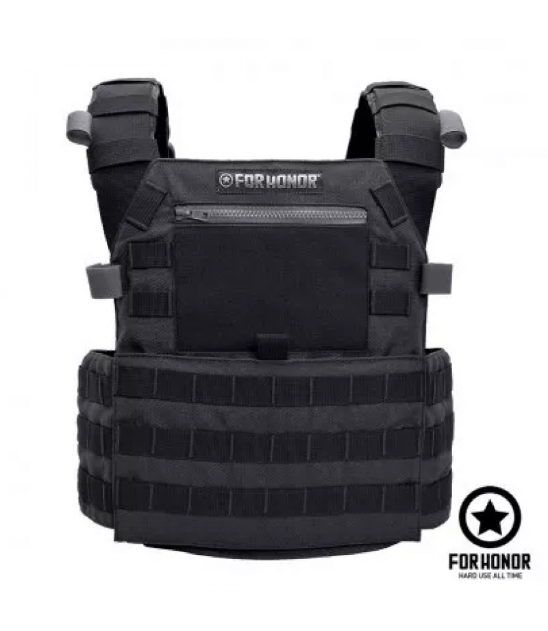 d11772d57f COLETE TÁTICO MODULAR PLATE CARRIER MOLLE FORHONOR PRETO