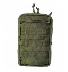 BOLSO VERTICAL WTC MODULAR MOLLE 2 C/ 2X ZIPERS VERDE OLIVA