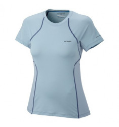 CAMISETA COLUMBIA FEM COOLEST COOL SHORT SLEEVE AZUL M